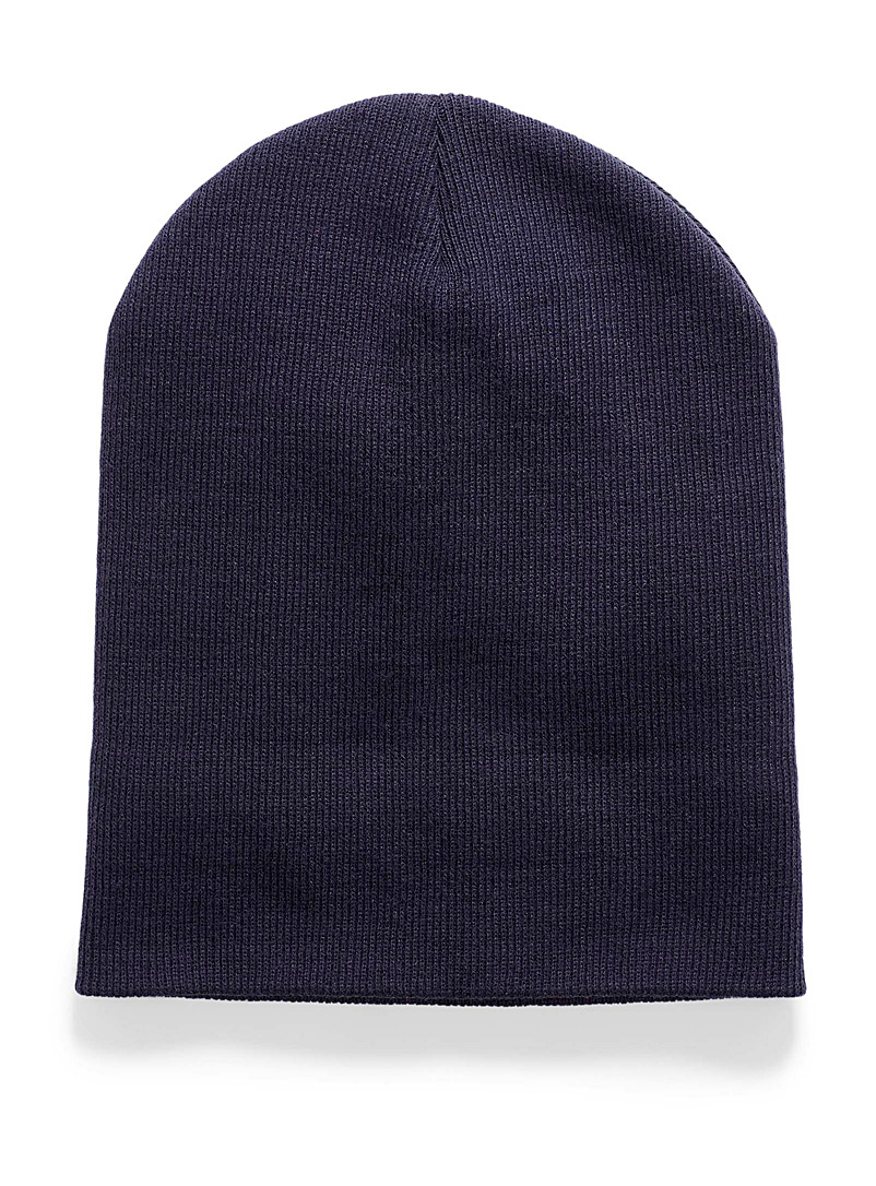 Ribbed knit cuff tuque - Tuques - Marine Blue