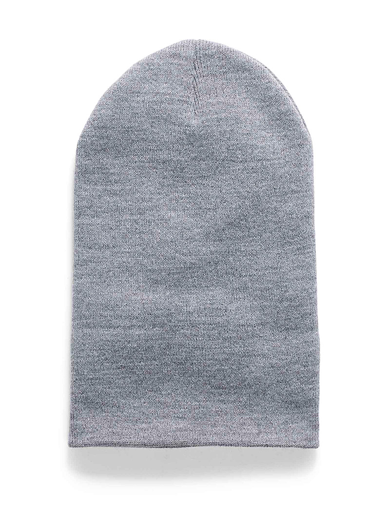 Ribbed knit cuff tuque - Tuques - Light Grey