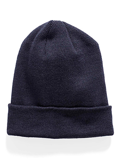 Le 31 Marine Blue Essential cuff tuque for men