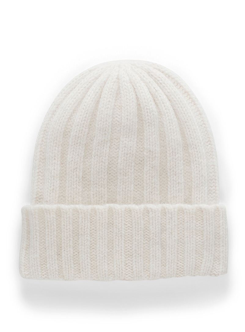 Chaos Ivory White Cashmere-blend velvety XXL tuque for women