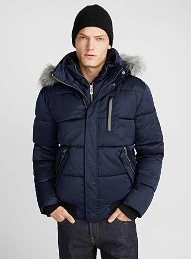 Urban quilted bomber jacket