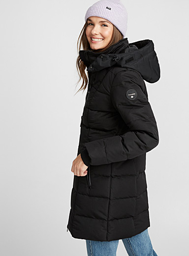 Quilted square parka