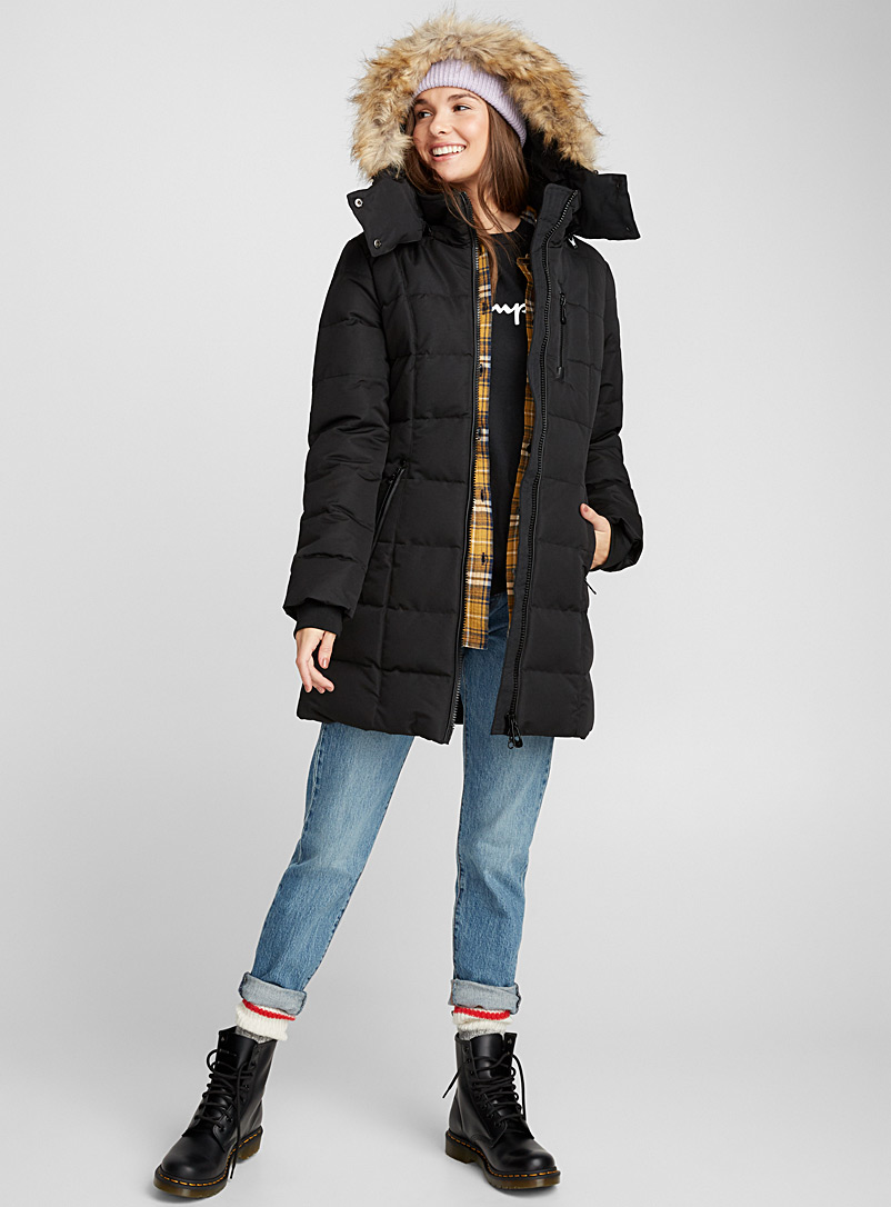 Quilted square parka - Quilted and Down Jackets - Black