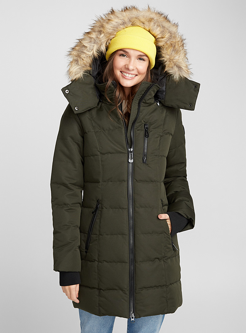 Quilted square parka - Quilted and Down Jackets - Mossy Green