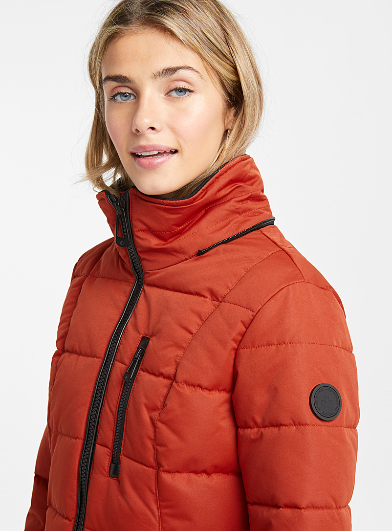 Quilted square parka - Quilted and Down Jackets - Dark Orange