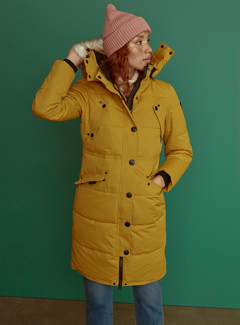 Kaylee quilted parka - Anoraks and Parkas - Dark Yellow