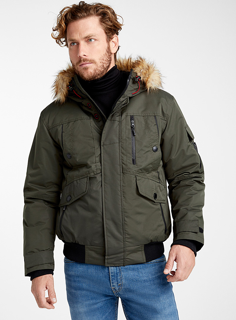 faux-fur-trim-hooded-bomber-jacket