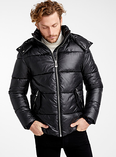 Lincoln shiny puffer jacket