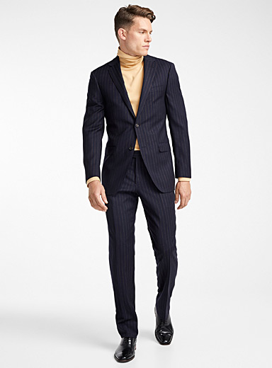 Ochre stripe suit  Semi-slim fit