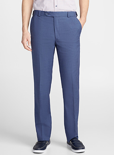 Piqué blue pant  Straight fit