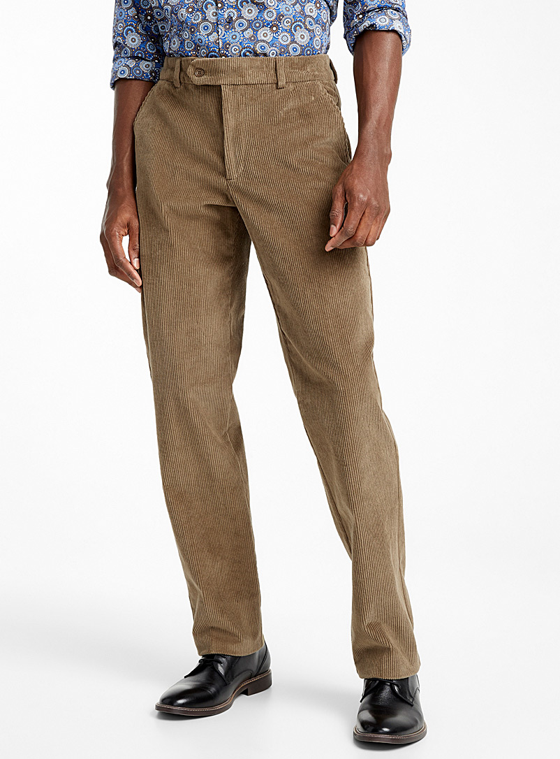 Stretch waist corduroy  Straight fit - Straight fit - Fawn