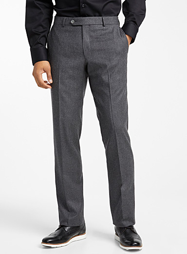 Flannel cashmere pant <br>Straight fit