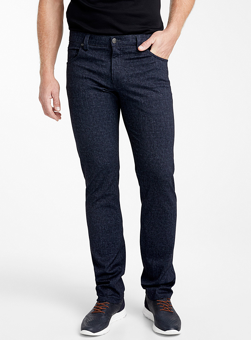 Faux-denim indigo pant - Straight fit - Marine Blue