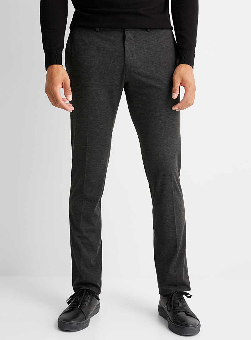 Le 31 Charcoal Stretch pant Straight, slim fit for men