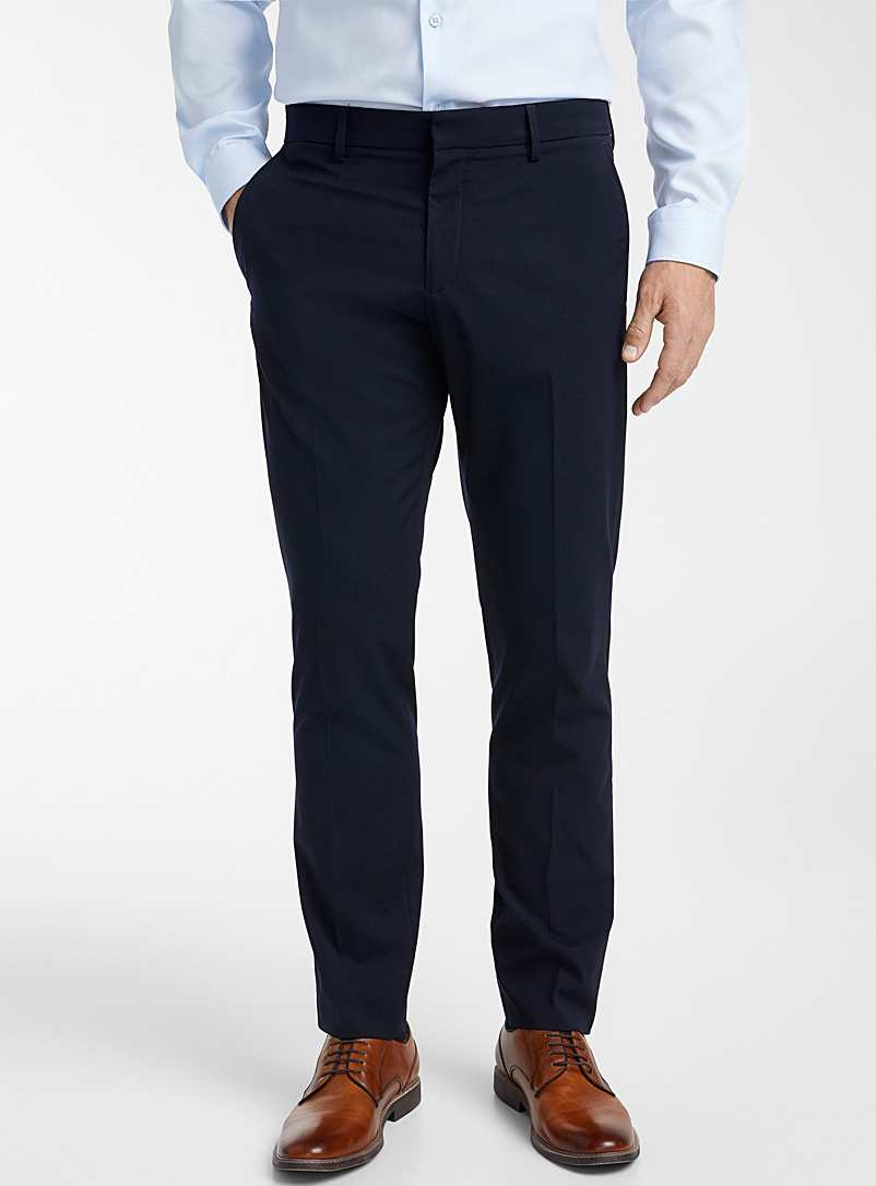 Solid stretch pant  London fit - Slim straight