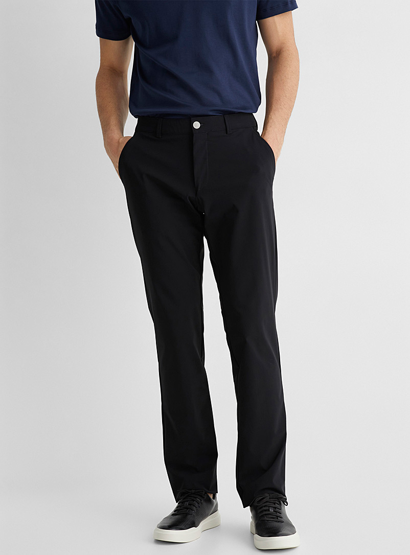 Le 31 Black Atwater techno pant Straight, slim fit for men