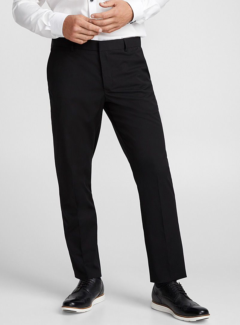 Minimalist pant  London fit - Slim straight - Tailored - Black