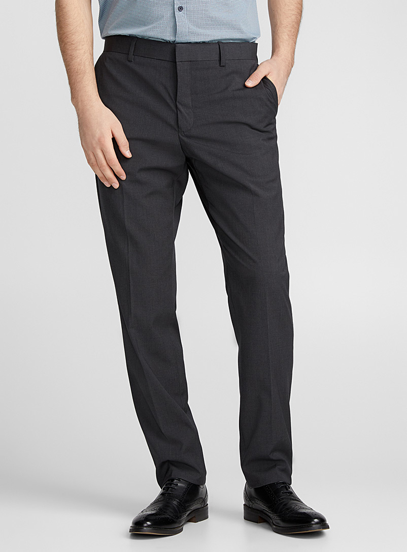 Minimalist pant  London fit - Slim straight - Tailored - Charcoal