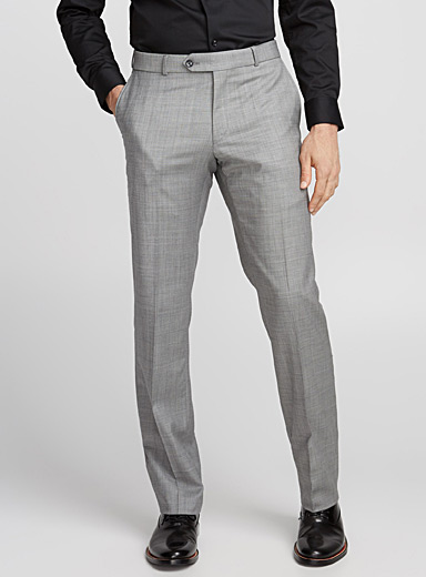 Pure wool chambray pant  Straight fit
