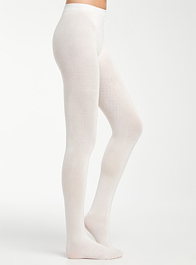 Le collant fin coton stretch