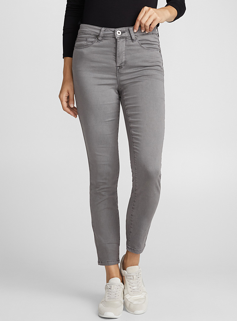 Dream skinny jean - High Rise - Patterned Grey