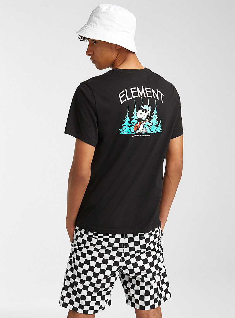 Element Black Snoopy at summer camp T-shirt for men