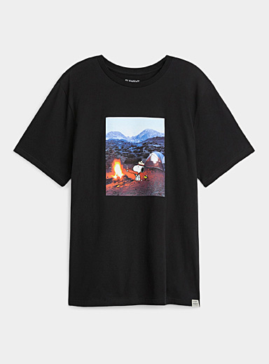 Snoopy and Woodstock camping T-shirt