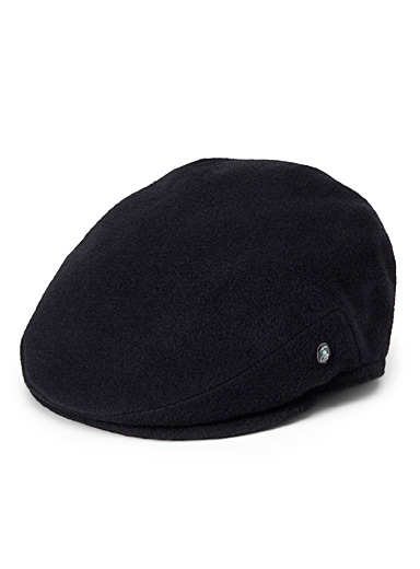 Felted wool driver cap