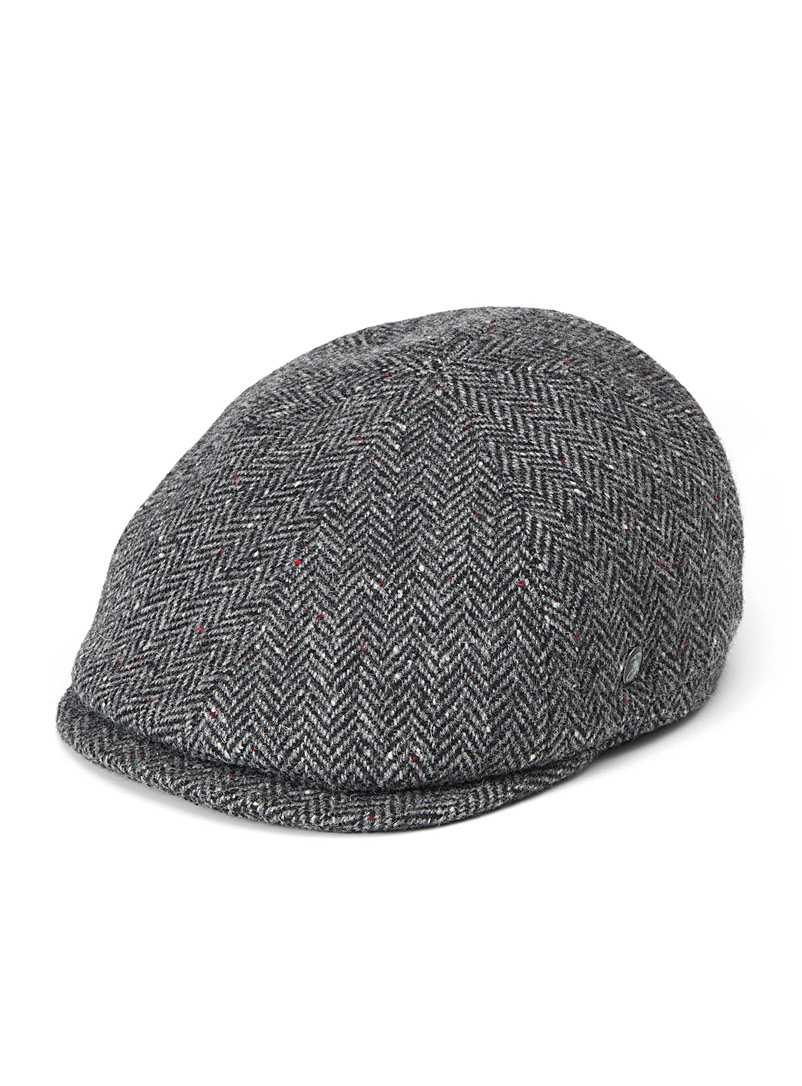 Tweed wool driver cap