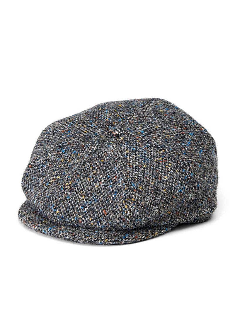 City Sport Patterned Black Tweed driver cap for men
