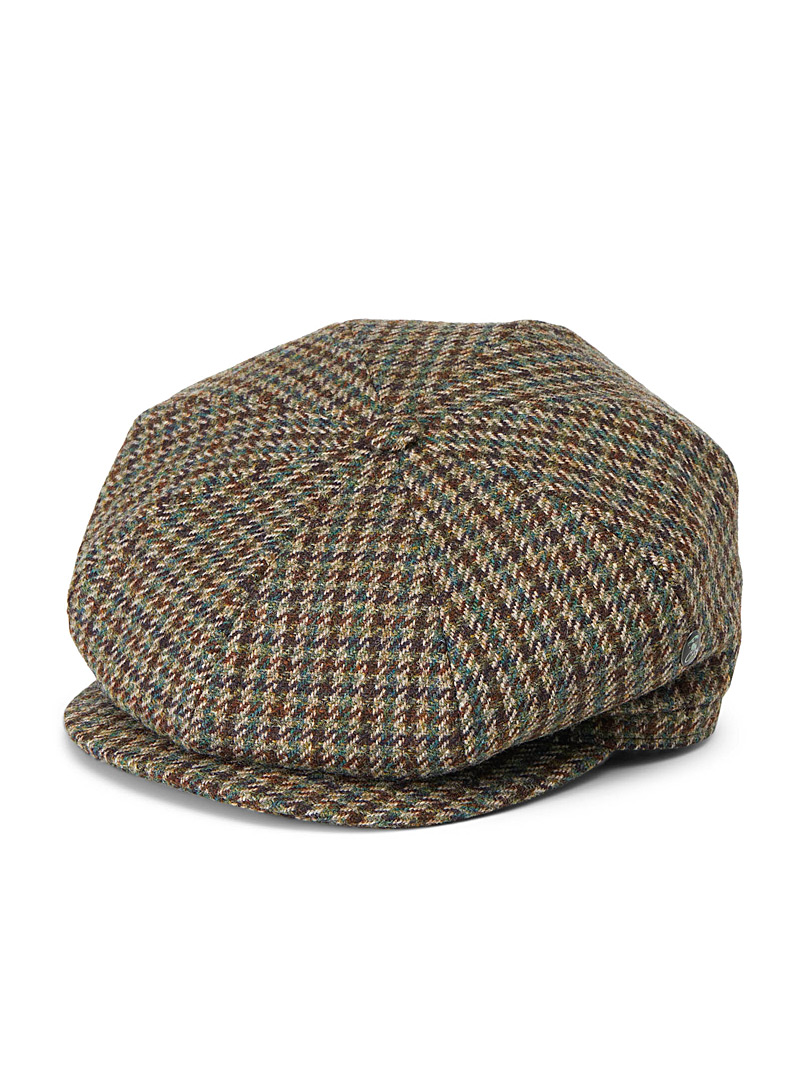 City Sport Patterned Green Heritage driver cap for men