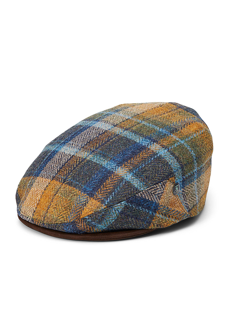 City Sport Patterned Blue Camelot check wool cap for men