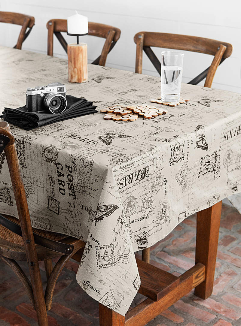 Postcard vinyl tablecloth - Vinyl - Assorted