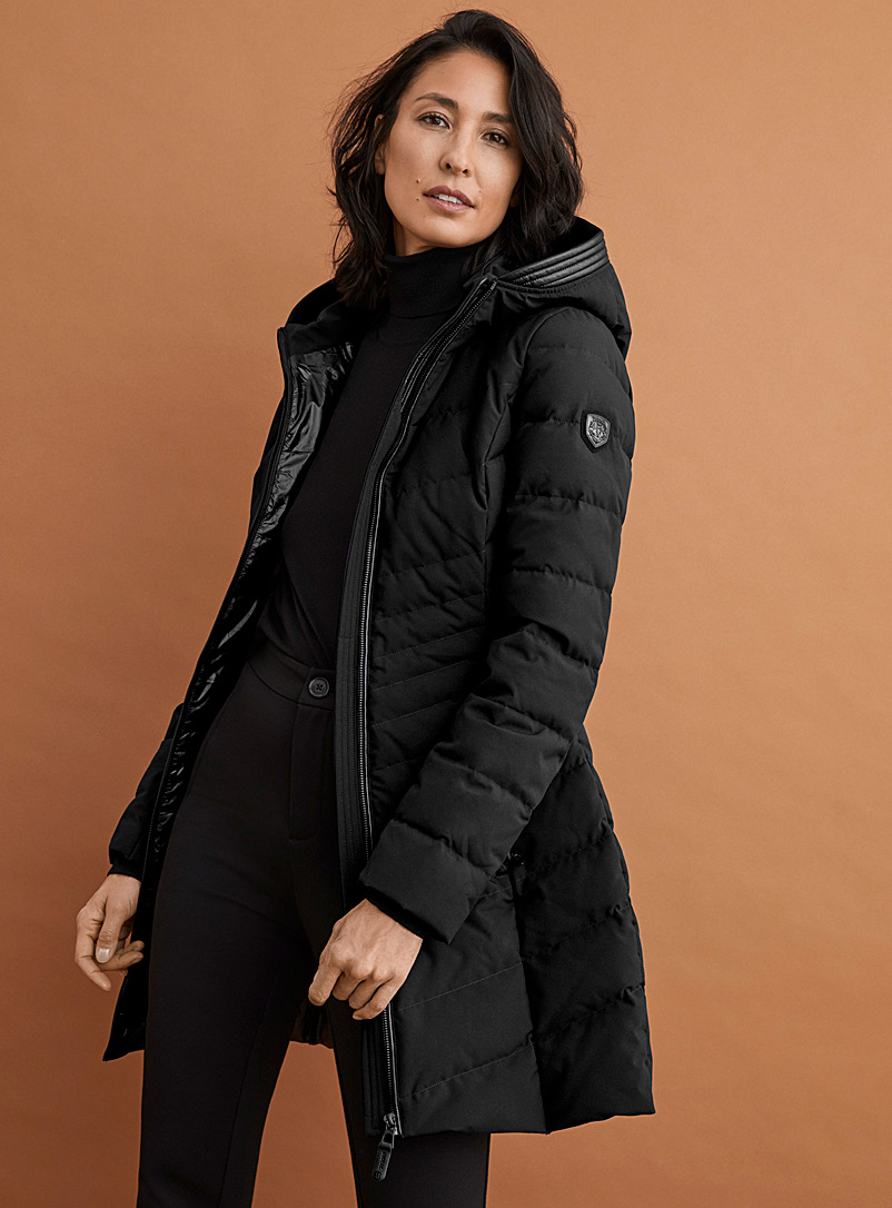 Kara fitted quilted parka