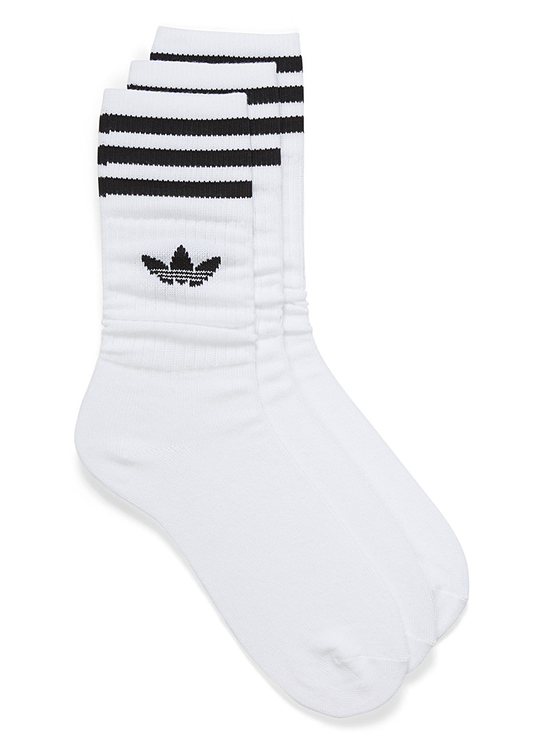 Adidas Originals White Iconic sock trio for men