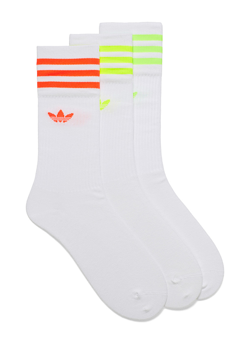 Adidas Originals Assorted Neon ribbed sock 3-pack  3-pack for men