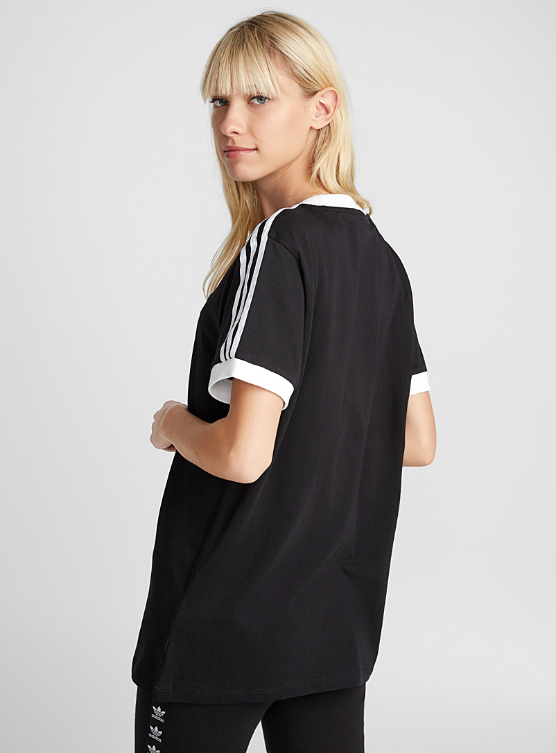 Three-stripe short-sleeve tee - Short Sleeves & ¾ Sleeves - Black