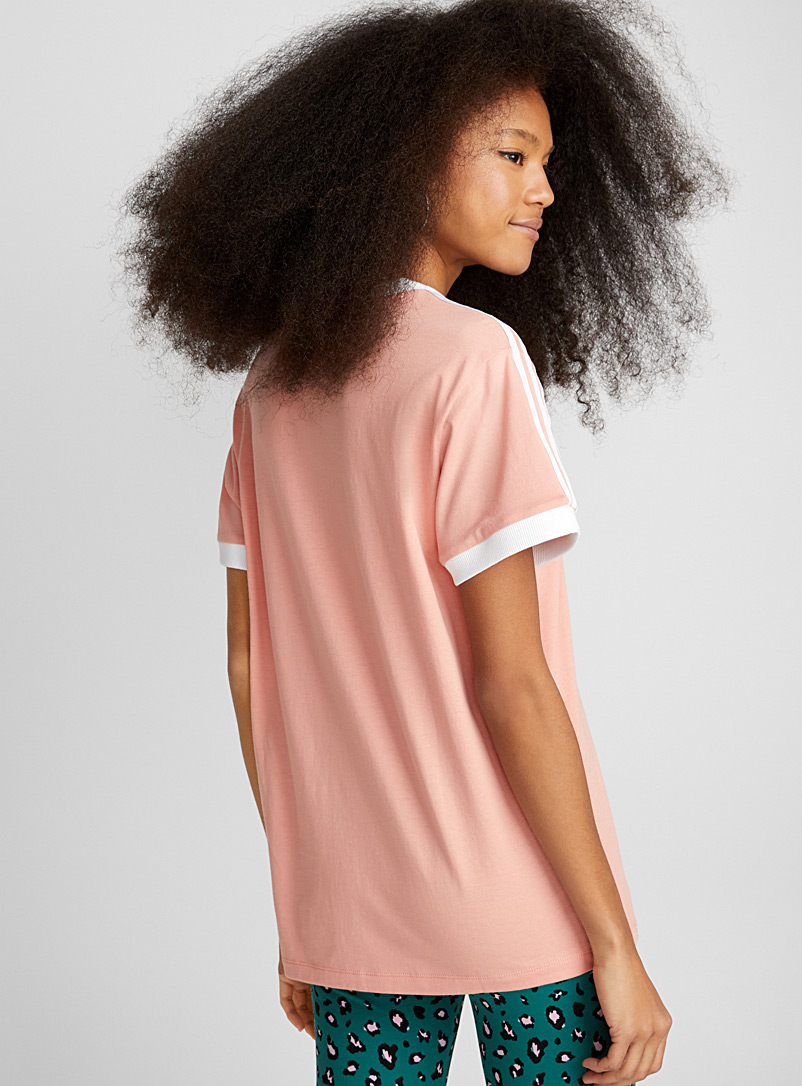Three-stripe short-sleeve tee - Short Sleeves & ¾ Sleeves - Dusky Pink