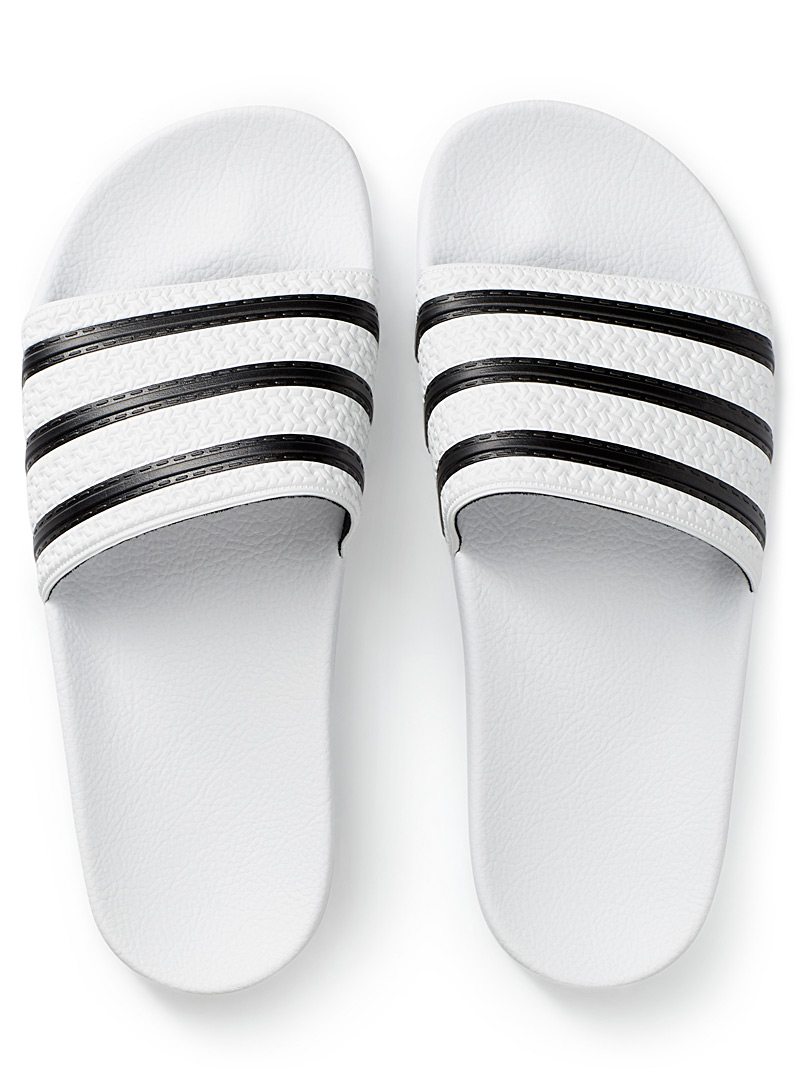 white-and-black-adilette-slides