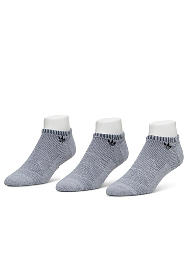 Knit panel ped sock 3-pack