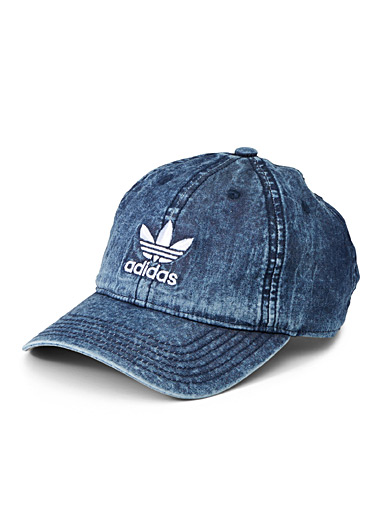 Faded denim logo cap