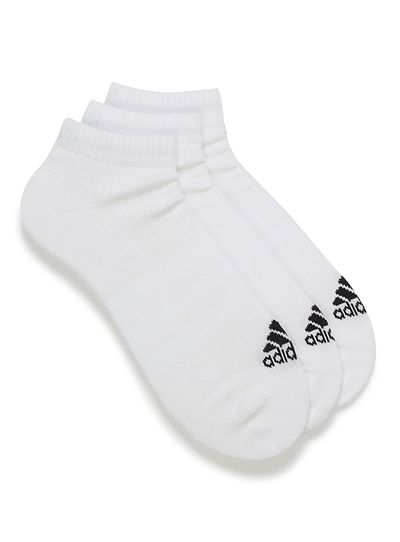 3-Stripes white ped socks  Set of 3 - Socks