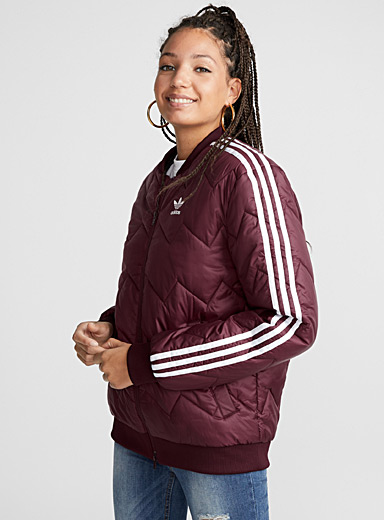 Zigzag quilted bomber jacket