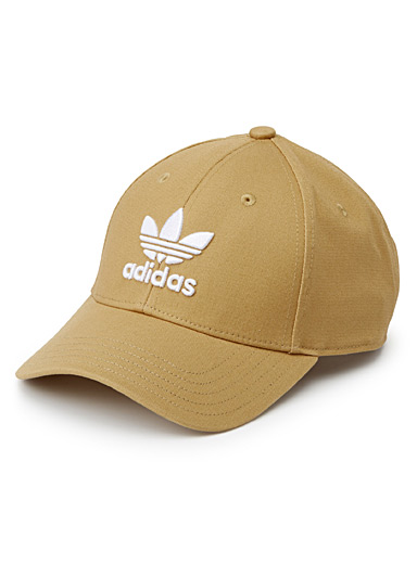 Embroidered trefoil logo cap