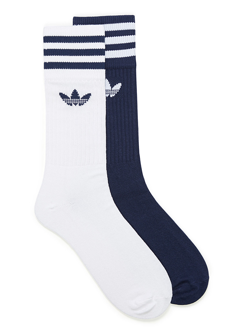 stripes-and-trefoil-logo-sock-2-pack