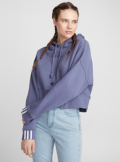 Coeeze cropped lilac sweatshirt