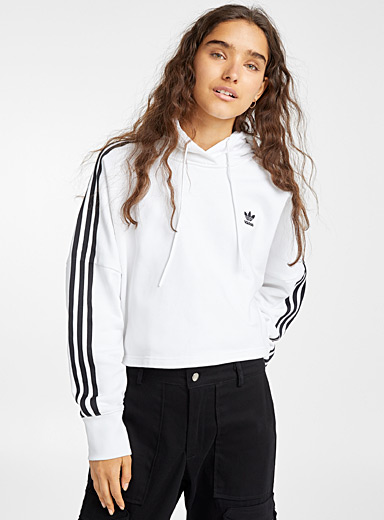 Le sweat court rayures accent