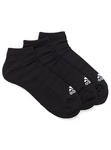 3-Stripes No-Show ped socks  Set of 3