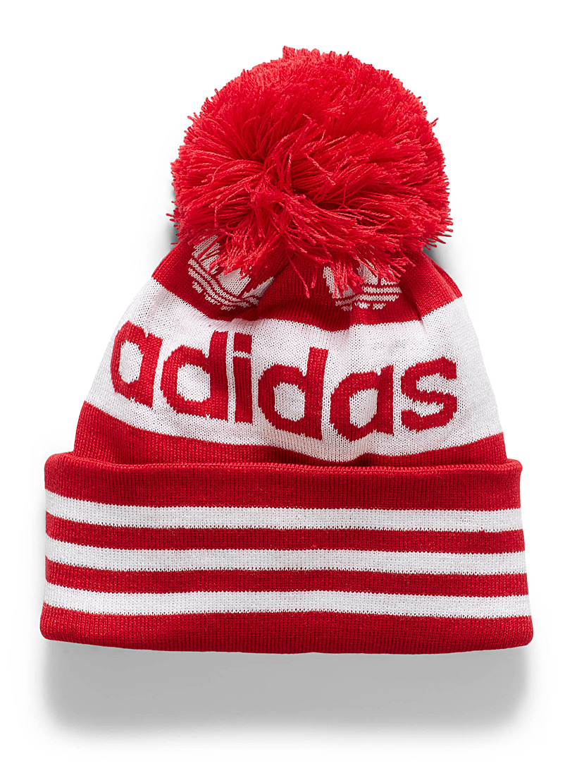 Adidas Originals Red Old school pompom tuque for men
