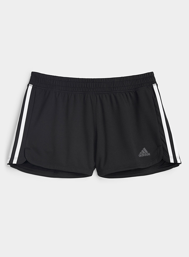 Adidas Baby Blue Pacer three-stripe short for women